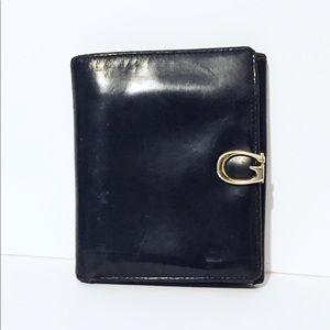Gucci black shiny leather small wallet